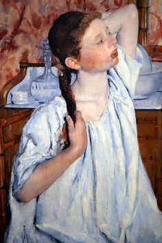 Mary Cassatt -   Girl Arranging Her Hair at National Art Gallery Washington DC