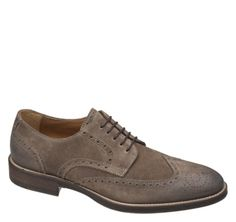 ARRINGTON WINGTIP - Taupe Italian Waxed Suede from Johnston & Murphy #johnstonmurphy #fallstyle #wingtip love!