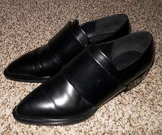 Vince Yaeger Loafers sz 6M semigloss black leather ASO Emma Stone $425