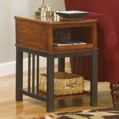 Signature Design By Ashley Jaysteen Mission Chair Side End Table