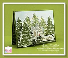 Beautiful Christmas Cards, Card Making Supplies, Wood Stamp, Walk In The Woods, Card Tutorials, Winter Cards, Masculine Cards, Stamping Up, Creative Cards