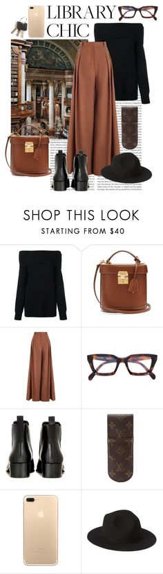 """""""Untitled #84"""" by andreazita ❤ liked on Polyvore featuring T By Alexander Wang, Mark Cross, Zimmermann, CÉLINE, Acne Studios and Louis Vuitton"""