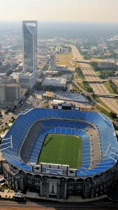 Bank of America Stadium is a football stadium located on 33 acres in uptown Charlotte, North Carolina, United States. It is the home facility and headquarters of the Carolina Panthers. Carolina Pride, Charlotte North Carolina, North Carolina Homes, Charlotte Nc, Downtown Charlotte, Carolina Girls, Carolina Usa, Bank Of America Stadium, Carolina Panthers Football