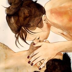 An Italian Artist Creates Illustrations Showing Sensuality and the Beauty of Touch