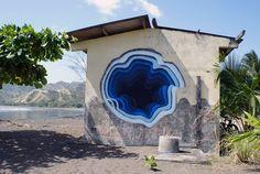 Artista cria grafites em 3D que parecem portais para outra dimensão