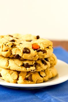 Colossal Peanut Butter & Reese's Pieces Chocolate Chip Cookies