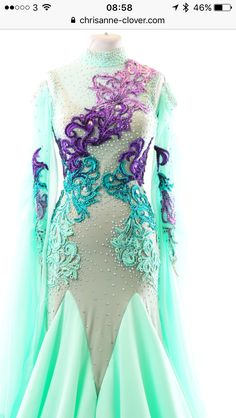Dance Outfits, Dance Dresses, Ballroom Dress, Embellishments, Formal Dresses, Clothes, Fashion, Dresses For Formal, Outfits