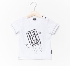 Fresh summer tee in white with grey marble allover print and 'ICE ICE BABY' printed over the chest. Made of organic cotton and elasthane by baby and kids clothing brand Lucky No 7 Sizing: Normal Washing instructions: Cotton Boy Outfits, Casual Outfits, Ice Ice Baby, Cute Tshirts, Organic Cotton, T Shirts For Women, Tees, Shopping, Clothes