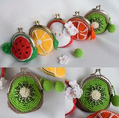 DIY-Tutoriel Porte Monnaie au CrochetEtsy :: Your place to buy and sell all things handmade Bag Crochet Patterns – Make a Purse - A More Crafty LifeTü Crochet Wallet, Crochet Coin Purse, Crochet Backpack, Crochet Purses, Crochet Earrings, Crochet Fruit, Rainbow Crochet, Crochet Diy, Crochet Gifts