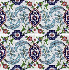 20x20 Cami Çinileri, 20x20 Duvar Karoları Ceramic Tile Art, Clay Tiles, Ceramic Design, Ceramic Bowls, Tile Patterns, Pattern Art, Textures Patterns, China Painting, Silk Painting