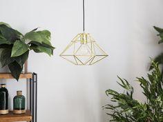 Metallinen kattovalaisin kultainen GUAM_695024 Geometric Lamp, Geometric Pendant, Lamp, Light, Pendant Lamp, Metal Pendant Light, Metal Pendant Lamps, Home Decor, Industrial Lamp