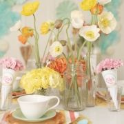 adorable color scheme for bridal shower.. love the poppies!