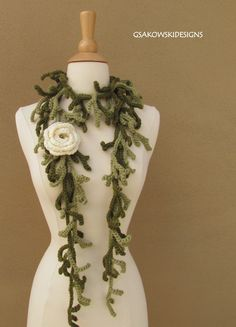 lariat-abstract branch scarf