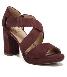 aa5968772 Naturalizer Harper Suede Block Heel Dress Sandals