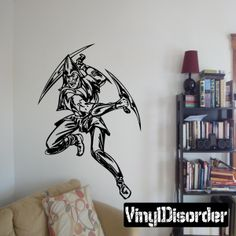 Monster Warrior Wall Decal - Vinyl Decal - Car Decal - DC 8026
