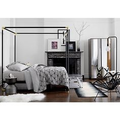 frame canopy bed | CB2