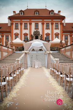 Элегантная свадьба в замке Троя