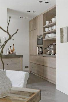wall of cabinets, 1/4 full length  eye on details: Interior design love skandinavian design