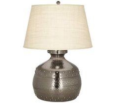Beldon Antique Pewter Metal Pot Table Lamp | 55DowningStreet.com