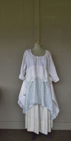 RESERVED for Roxana, please do not purchase.                                          15% off Bohemian dress/French Shabby dress/upcycled