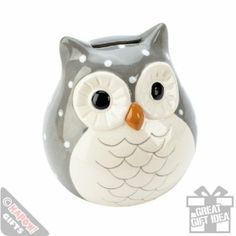 Ceramic Owl Money Box. Savings Jar Piggy Bank: Amazon.co.uk: Kitchen & Home