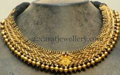 Jewellery Designs: Choker with Embossed Naga
