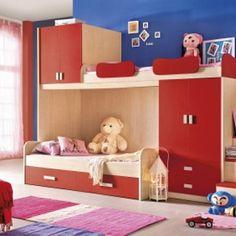 Кровать (II-й ярус) с опорами и шкафами - 10531 грн.  Детская кровать (II-й ярус) с опорами и шкафами - позволяет рационально использовать пространство детской. В комплект входят: кровать (II-й ярус), опоры, шкаф платяной 2-дверный с 2-мя выдвижными ящиками, верхний 2-дверный шкафчик. Матрас в комплект не включен. Возможна доукомплектация приставной лестницей-стремянкой 250-601-14, лестницей с выдвижными ящиками 250-601-13, кроватью I-го яруса 250-601-12