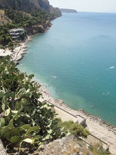 #Arvanitia beach as seen from the entrance of #Akronafplia Castle in #Nafplio, #Peloponnese, #Greece