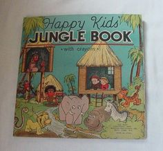 VINTAGE HAPPY KIDS JUNGLE BOOK Great Graphics Illustrations c1933 Coloring Book