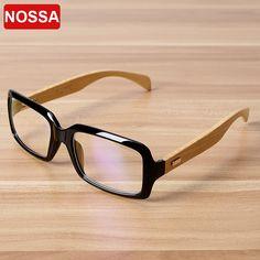 NOSSA Quality Handmade Bamboo Glasses Frame Women Men Retro Myopia Prescription Eyewear Frames Wooden Eyeglasses Goggles