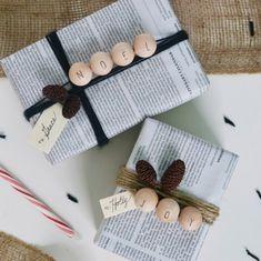 papier journal emballage cadeau DIY