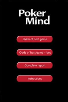 Poker Mind  by Silver-apps.com - A best game calculator for a Texas Hold'em which performs a report for your odds of a winning hand plus the relative advantage/disadvantage to your opponent -which would take hours for a human to do- in seconds.