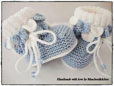 Babyschuhe - Krabbelschuhe   von Maschenlädchen auf DaWanda.com Knit Baby Shoes, Knitted Booties, Tartan Pattern, Photo Tutorial, Baby Knitting, Making Ideas, Crochet Hats, Booty, Etsy