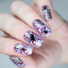 Art Template, Templates, Stamping Plates, Halloween Themes, Nail Art, Nails, Pretty, Image, Finger Nails