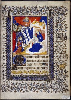 Miniature of Henry VI on Catharine de Valois' knee/ Dauphin Louis with St Louis before the Virgin & Child, from the Psalter of Henry VI, Paris, c. Illuminated Letters, Illuminated Manuscript, Renaissance, Plantagenet, Book Of Hours, Medieval Manuscript, Prayer Book, Pattern And Decoration, British Library