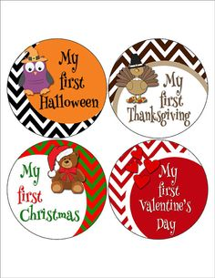My First #Halloween My First Thanksgiving My First Christmas My First Valentine's Day by @MoonLitPrints #pottiteam
