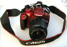 My new Camera!! My red Canon EOS Rebel T3!!! I love it!