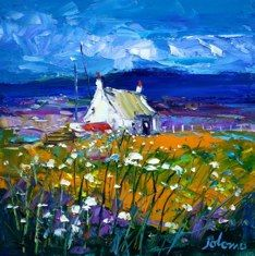 Summerlight Bunessan Isle of Mull Landscape Artwork, Abstract Landscape Painting, Artist Painting, Art Pictures, Art Images, Watercolor Sunflower, Canadian Art, Pastel Art, Colorful Paintings