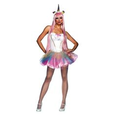 Women's Fantasy Unicorn Costume - Medium/Large, Pink Costumes Sexy Halloween, Girl Costumes, Adult Costumes, Costumes For Women, Animal Costumes, Female Costumes, Awesome Costumes, Costume Ideas, Unicorn Halloween Costume