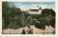 Light House Keeper's Residence Grand Haven Michigan Postmarked 1917 | eBay