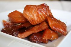 this makes me want a smoker--Indian Candy Salmon Smoked Salmon Recipes, Fish Recipes, Seafood Recipes, Healthy Recipes, Game Recipes, Smoking Recipes, Smoking Food, Fire Food, Smoked Fish