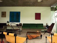 More Fabrics loves this furniture colour blocking. inspiration for the Home.