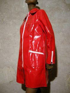 Chic Vintage Ciré Imper 1960 Vinyl VTG Raincoat PVC 60s Space AGE Sixties 38 40   eBay