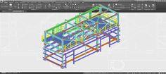 #Delineación y #Modelado 2D y 3D para Estructura Metálica, realización de documentación técnica y planos para Initec Plantas Industriales #Ingeniería