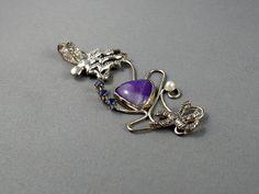 Octopus necklace. Sugilite jewelry. Sugilite by nataliasjewellery