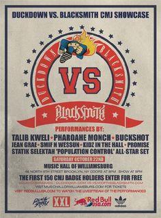 Duckdown vs. Blacksmith Presents: Talib Kweli. Pharoahe Monch. Buckshot. Jean Grae. Smif n Wessun. Kidz in the Hall. Promise. Statik Selektah 'Population Control' All-Star Set.