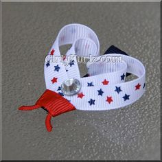 4th of July Lady LoveBug Clippies Ladybug Hair Clip by GirlyKurlz, $4.00