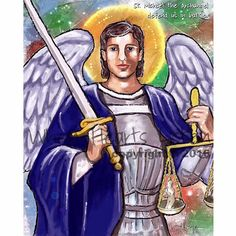 St. Michael the archangel St. Michael saint by WhenHeartsListen