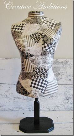 Make your own decorative dress form