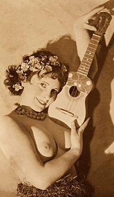 Zappa naked lady guitar